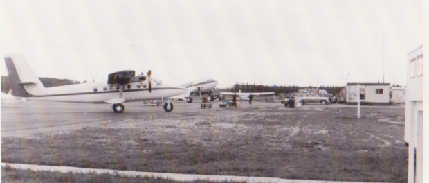 old photo aircraft on ramp